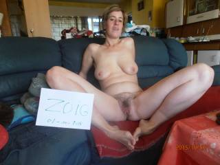 LOVELY hairy pussy. Sweet spread. I'd eat your pussy just like that.
