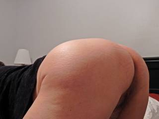 Hubby took this picture while he was talking dirty to me.. I asked him if boys would like my big butt.. he said he can't wait to see me with a stranger.  Anyone?