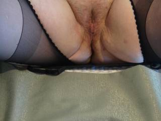 Mmmmm - who likes ripped pantyhose?