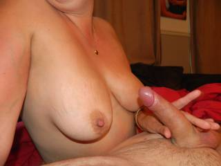 Tits and hard thick cock