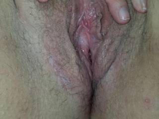 spread open after being injected and fucked