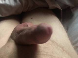 Stiff cock, needs some stroking.