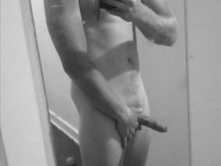 Just showing my semi hard cock