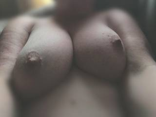 These titties are looking a little bit lonely. Would enjoy some company!