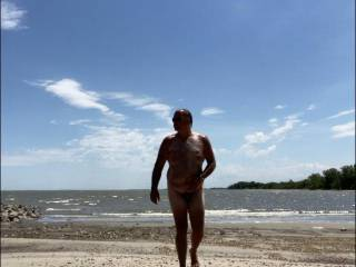 Feels good to be naked at the beach