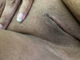 Waiting for me to eat that cum filled pussy from his big cock.  I nutted while sitting on my face