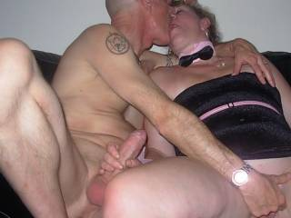 Amanda grabbed Terrys cock and wanked it. He fingered her wet shaved pussy. xxx