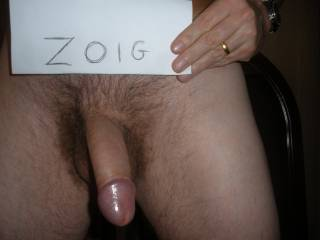 Ummm, what a nice Zoig picture that is. Nice cock sweetie. Love the sexy shinny head. Its so inviting.  K