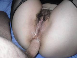 love to fuck and strethc out that lovely little hole before spraying my hot cum all over that hairy pussy!!