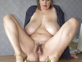 That is a gorgeous pussy! I love the huge lips! I would wrap them around my head as I bury my face in your delicious pussy for a few days! You have my cock soooo hard right now!