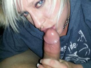 Connie getting ready to swallow my cock balls deep. Vote and comment please