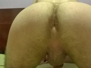 I think I wanna eat that yummy hairy hole, then slide my hard cock in to the hilt, and bounce my balls against yours!!!