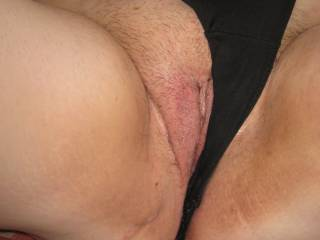 showing my tight pussy