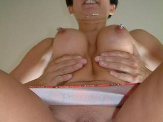 mmmm i would love to eat that pussy till you squirt then suck on those perfect tits while i fuck you hard adn deep with all 8inches