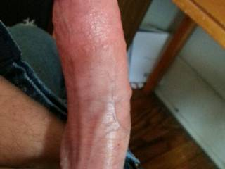 Extra fun with a cock ring and veins popping