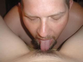 Me licking my girls clit