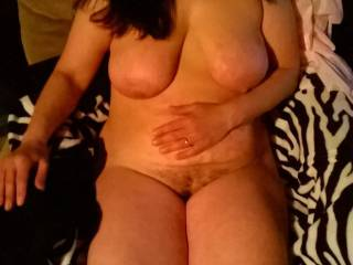 Just chillin nude with hubby