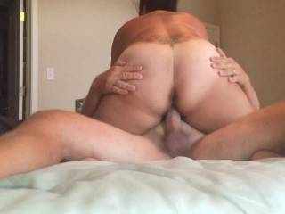Mmmm, Mr. H can pump that big cock.  I love riding too.  Nothing like grinding down hard on a big hard cock like that!!!
