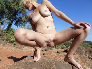 At the nudist resort. Would YOU like to wank over me....?