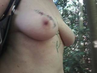 My Sussex Submissive strolling naked through North Kent woodlands.