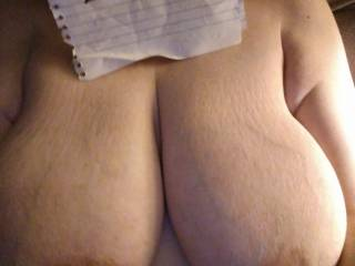 My big tits wanna be touched and my nipples wanna be licked and sucked on