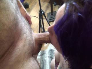 Our latest video adventure from a few nights ago. I blow a load on her tits. This is part 1. The cumshot scene is on BabyDollSwallow\'s profile page. Check it out.