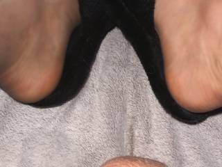 Sexy slippers and small dick