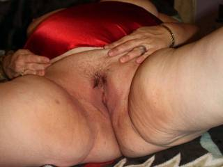 Wife's pussy is getting wet, time to be licked on.