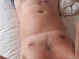 Just  up horny and imagining a lovely busty lady riding me