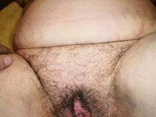 Hairly pussy and deep body
