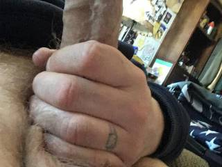 Jerking off my big dick for you
