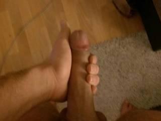 Teasing my hot meaty cock