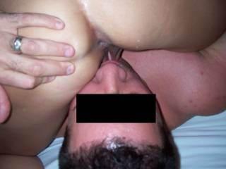 my wife took this pic of me eating pussy and licking a girl\'s ass!!!!!