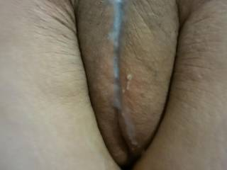 My hubby filled me this morning mmm I love to feel his cum inside my pussy ;)