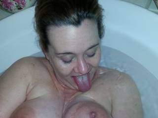 Love having my nipples lick, and I love playfully teasing Hubby by licking them!