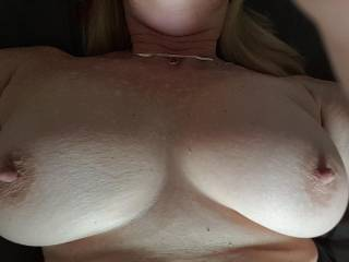 One hard nipple for each of us 😁