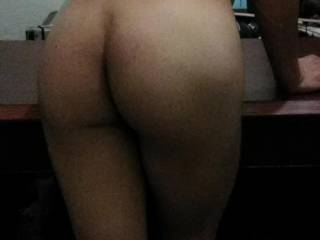I got good responses to photos of my bare ass so here\'s another. Bend me over the desk I want your dick...