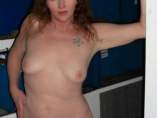 Wife naked at friends store