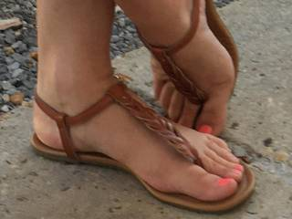 Sexy feet and toes in new shoes