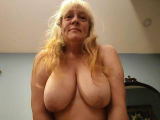 I want you to cum all over my tits! Cover my tits with your love. Mmm...