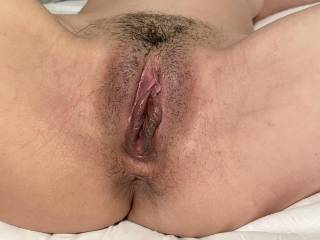 My Asian wifes big swollen dark pussy. 23y/o