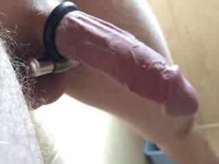 Cock and ball ring with vibrator
