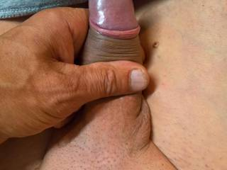 Horny cock shaved...