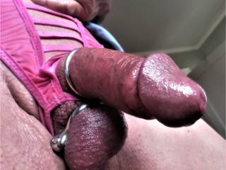 Getting really horny and hard. red. wet.