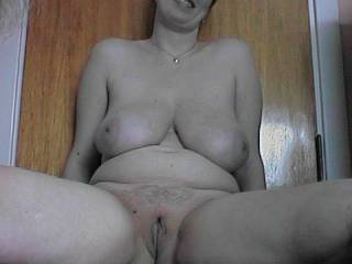 wow,lovely tits,and nice pouting pussy too,pretty face,what more could a man want.