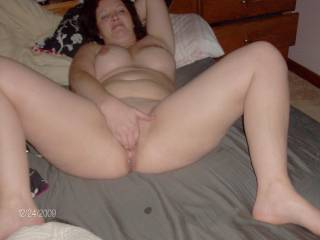 Love seeing her fingers in her sweet pussy.