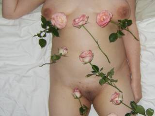 Hell you heard of A ROSE FOR A ROSE ...I must\'ve been a good girl ...I\'m covered in roses ...DO YOU LIKE THE OUTFIT?