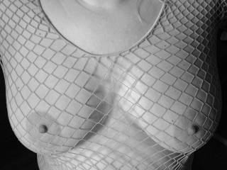 Incredibly sultry hot, mind blowing erotic b/w pic! Love those magnificent perfect tits and mesmerizing mouth watering nipples of yours, LBJ! :-)
