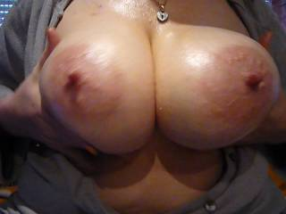 Amazing Miss T, I just blew my load watching this vid of your super nice big tits, I would love to ty them as you well know, xxxxx