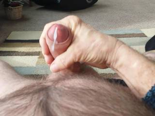 Yummy! Wish I could taste your sweet cream! I too am uncut but not as big as you!